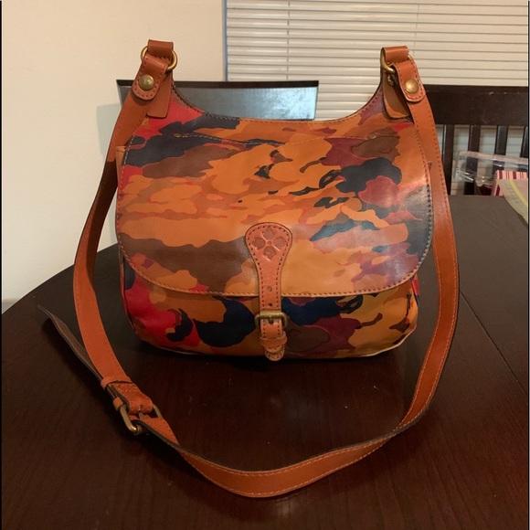 Patricia Nash Camo Italian Leather Crossbody Bag
